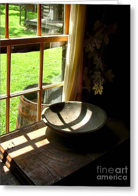 Cabin Window Greeting Cards - Cabin Crosses I Greeting Card by Julie Dant