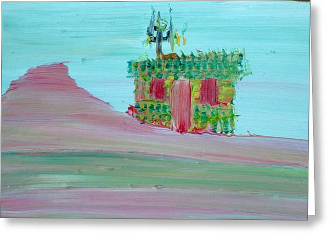 Antenna Paintings Greeting Cards - Cabin Greeting Card by Fabrizio Cassetta