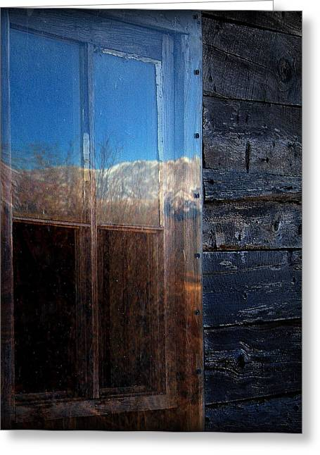 Cabin Window Greeting Cards - Cabin Fever.. Greeting Card by Al  Swasey