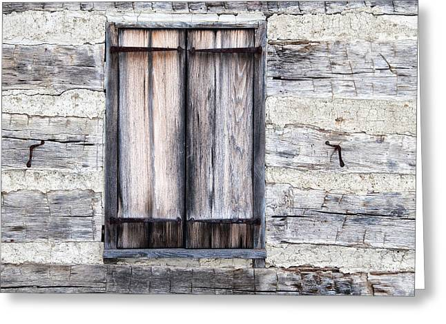 Cabin Window Greeting Cards - Cabin Fever Greeting Card by Dale Kincaid