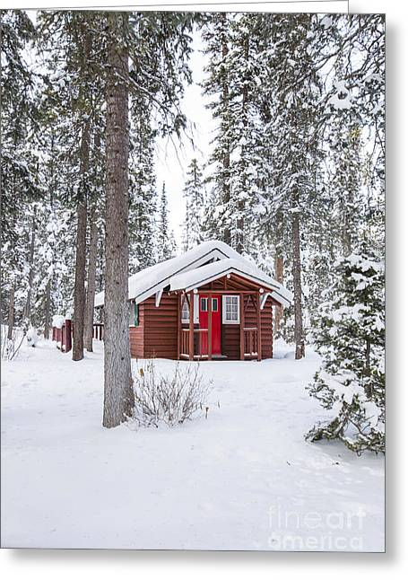 Charming Cottage Greeting Cards - Cabin Fever Greeting Card by Evelina Kremsdorf