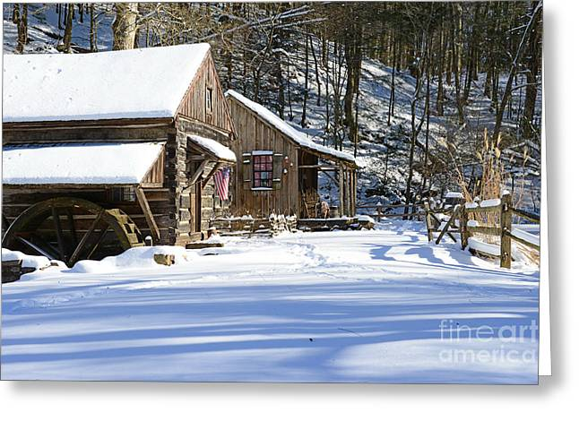 Snow Scene Landscape Greeting Cards - Cabin Fever Greeting Card by Paul Ward