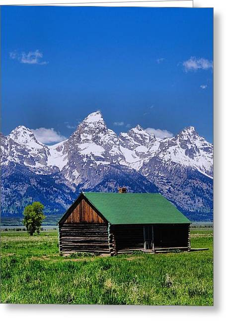 Log Cabins Greeting Cards - Cabin in the Mountains Greeting Card by Dan Sproul