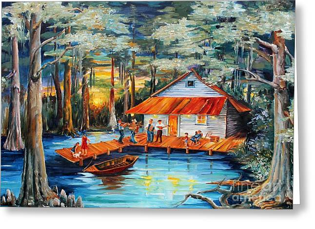 Cabin In The Swamp Greeting Card by Diane Millsap