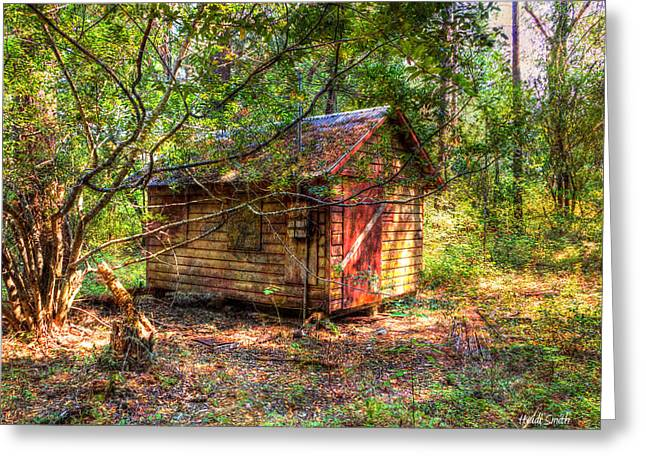Leaks Greeting Cards - Cabin In The Woods Greeting Card by Heidi Smith