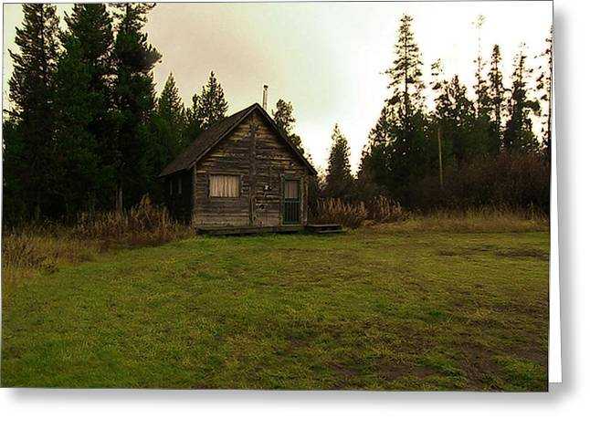 Screen Doors Greeting Cards - Cabin In The Woods Greeting Card by Image Takers Photography LLC