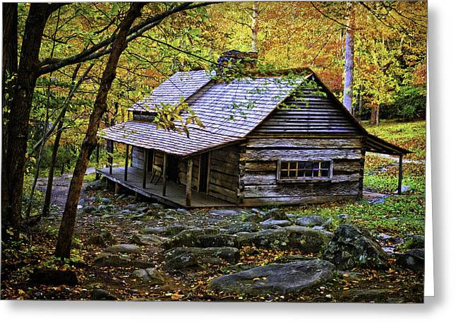 Roaring Fork Road Photographs Greeting Cards - Cabin in the Woods Greeting Card by Lawrence Golla