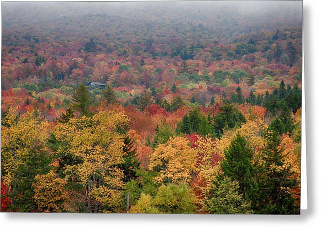 Cabin In Vermont Fall Colors Greeting Card by Jeff Folger