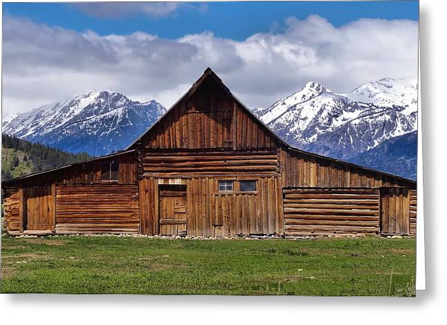 Log Cabins Greeting Cards - Cabin In Wyoming Greeting Card by Dan Sproul