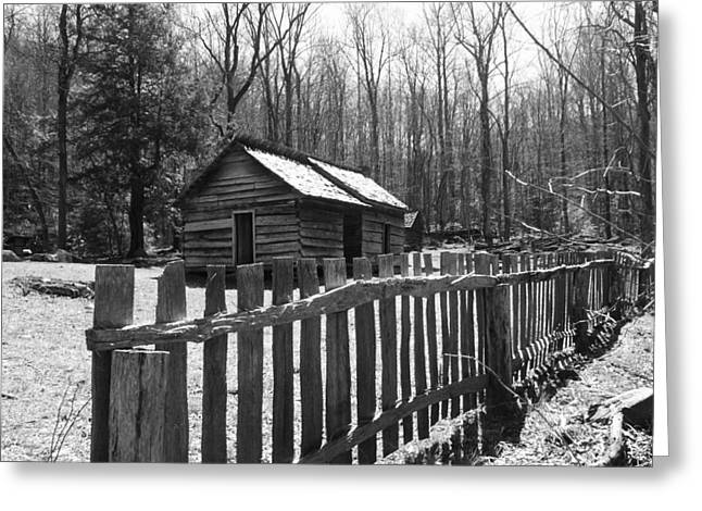 Log Cabins Greeting Cards - Humble Greeting Card by Jeff Roney