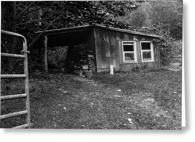 Hunting Cabin Greeting Cards - Cabin Life Greeting Card by Amy Fyffe