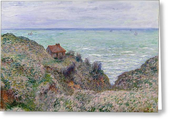 New York The Metropolitan Museum Of Art Greeting Cards - Cabin of the Customs Watch Greeting Card by Claude Monet