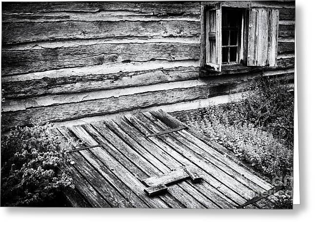 Log Cabins Greeting Cards - Cabin shutters Greeting Card by Paul W Faust -  Impressions of Light