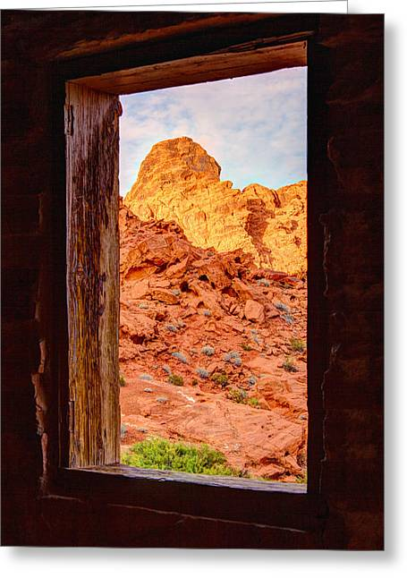 Jmp Photography Greeting Cards - Cabin View Greeting Card by James Marvin Phelps