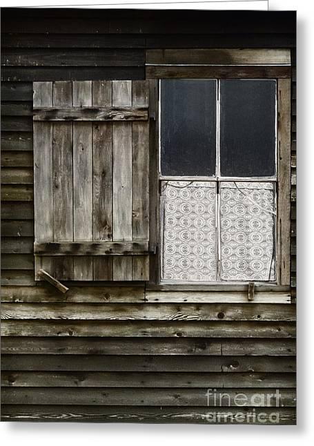 Cabin Window Greeting Cards - Cabin Window Greeting Card by Margie Hurwich