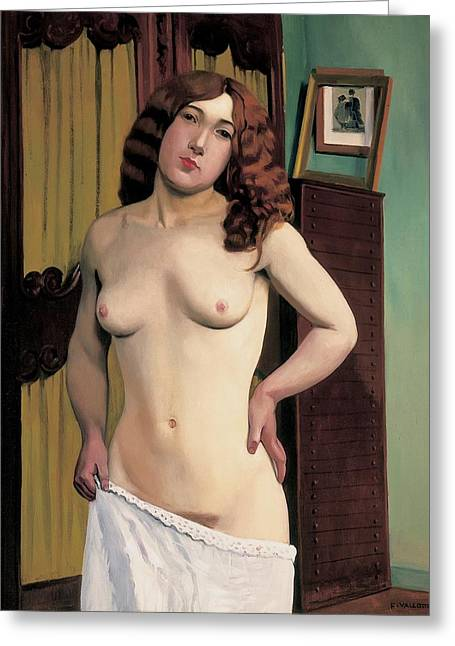 Slip Greeting Cards - Cabinet Chest Greeting Card by Felix Edouard Vallotton
