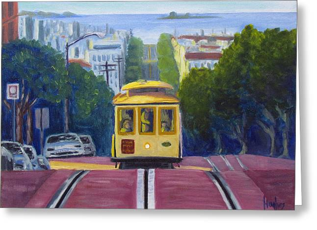 San Fransico Greeting Cards - Cable Car Greeting Card by Kevin Hughes