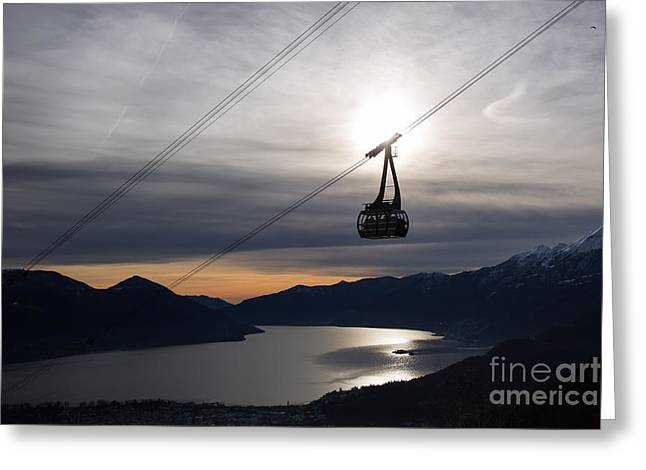 Cable Pyrography Greeting Cards - Cable car Greeting Card by Maurizio Bacciarini