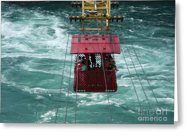 Bravery Greeting Cards - Cable Car Wild Ride Over Niagara Greeting Card by Luther   Fine Art