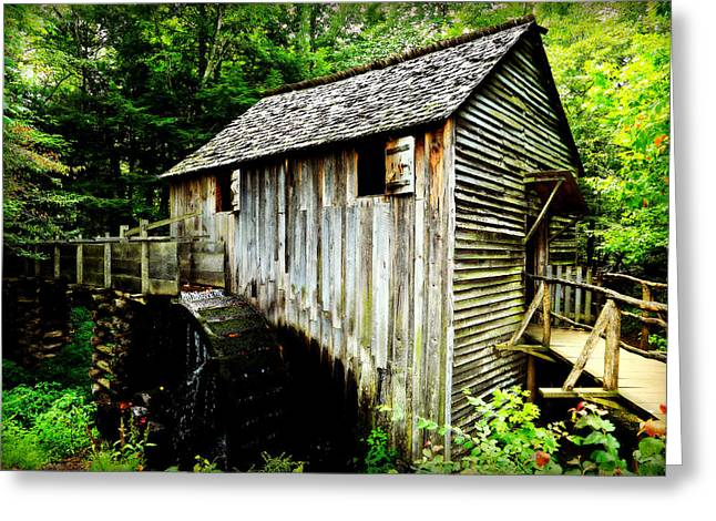 Grist Mill Greeting Cards - Cable Mill - Cades Cove Greeting Card by Stephen Stookey