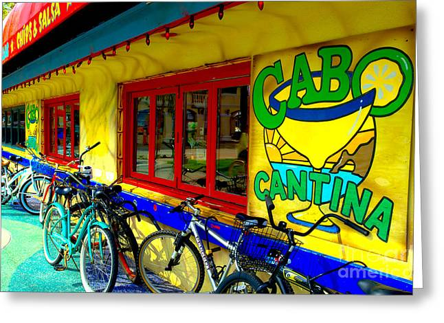 Cantina Greeting Cards - Cabo Cantina - Balboa Greeting Card by Jim Carrell