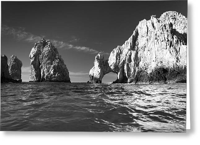 Black Greeting Cards - Cabo in Black and White Greeting Card by Sebastian Musial