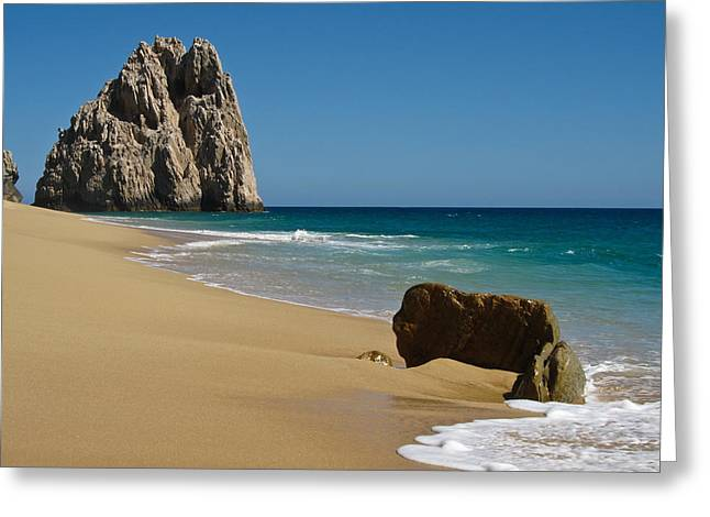 Outside Greeting Cards - Cabo San Lucas Beach 1 Greeting Card by Shane Kelly