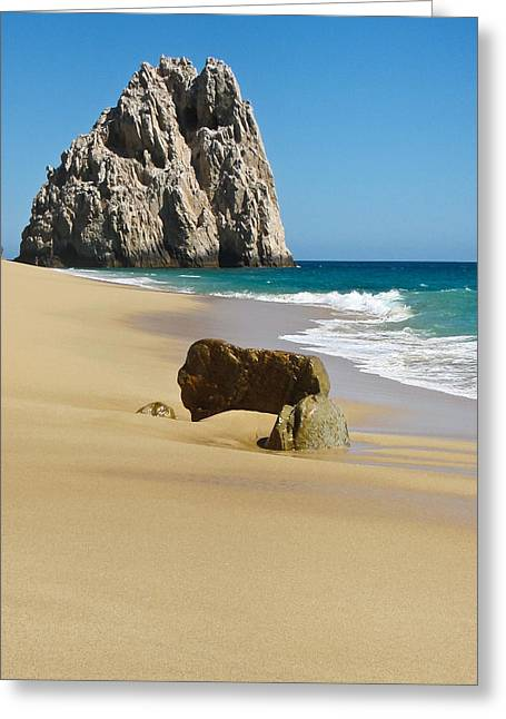 Ocean Greeting Cards - Cabo San Lucas Beach 2 Greeting Card by Shane Kelly