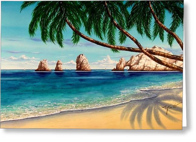 Cabo San Lucas Greeting Cards - Cabo San Lucas Day Greeting Card by John YATO