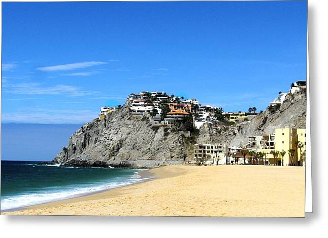 Best Sellers -  - California Tourist Spots Greeting Cards - Cabo San Lucas Hillside Villas Greeting Card by Jennifer Lamanca Kaufman