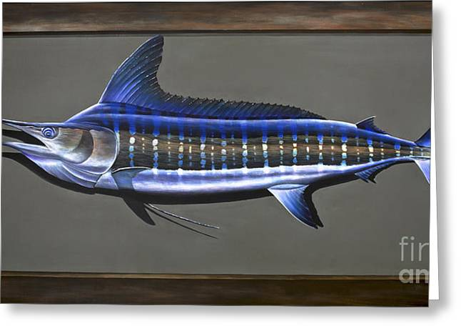 Striped Marlin Greeting Cards - Cabo Stripes Greeting Card by Johnny Widmer