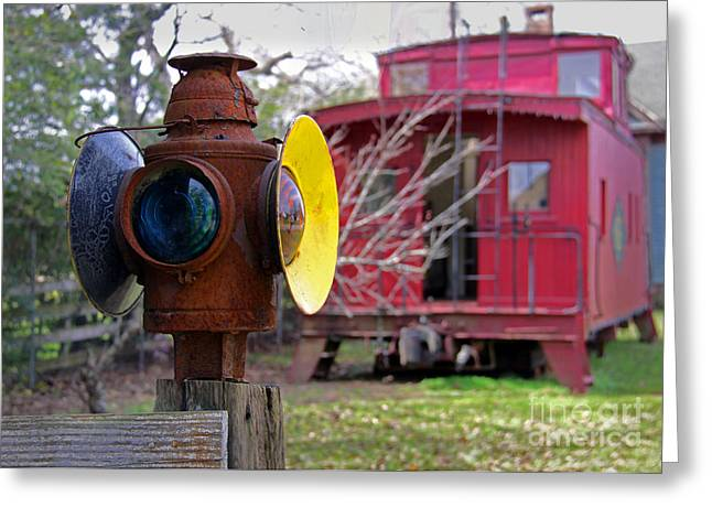 Caboose Greeting Cards - Caboose Greeting Card by Gayle Johnson