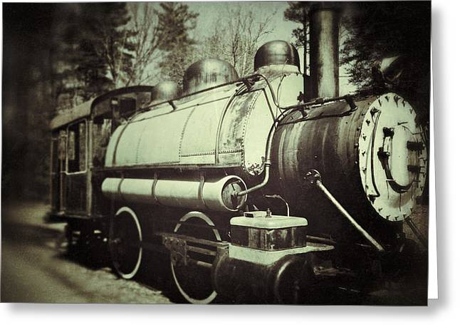 Caboose Photographs Greeting Cards - Caboose Vintage Greeting Card by Brandon Addis