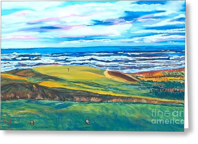 Seashore Pastels Greeting Cards - Cabot Links Hole 14 Greeting Card by Frank Giordano