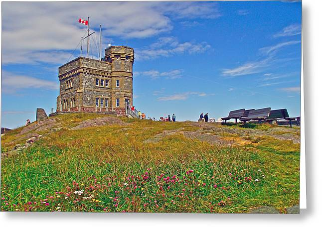 Cabot Tower In Signal Hill National Historic Site In Saint John's-nl Greeting Card by Ruth Hager