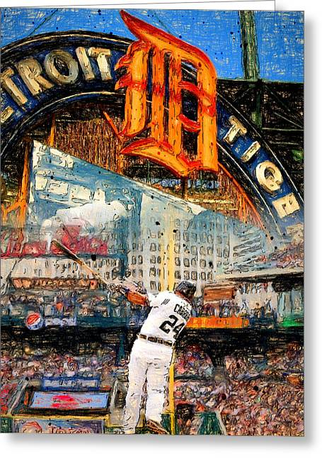 Miguel Cabrera Greeting Cards - Cabrera Wall of Awesome Greeting Card by John Farr