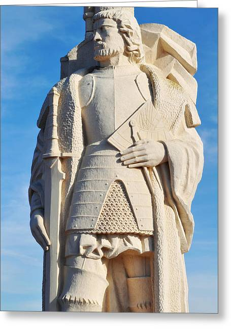 Historic Statue Greeting Cards - Cabrillo National Monument Greeting Card by Kyle Hanson