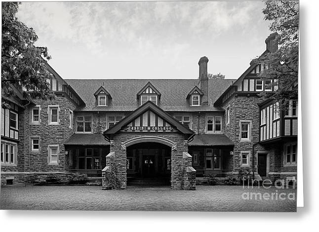 Half Staff Greeting Cards - Cabrini College The Mansion Greeting Card by University Icons
