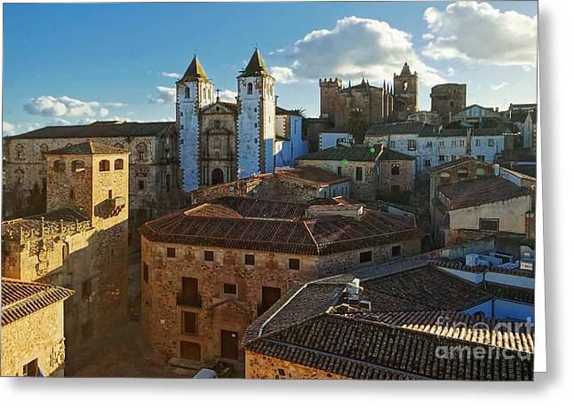Extremadura Greeting Cards - Caceres Spain 4 Greeting Card by Rudi Prott