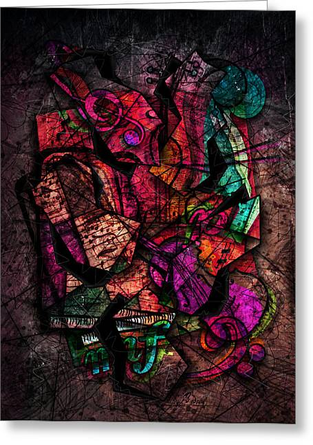 Bizarre Digital Art Greeting Cards - Cacophony In Z Minor Greeting Card by Gary Bodnar