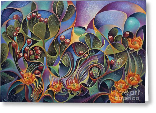 Cactus Dinamicus Greeting Card by Ricardo Chavez-Mendez