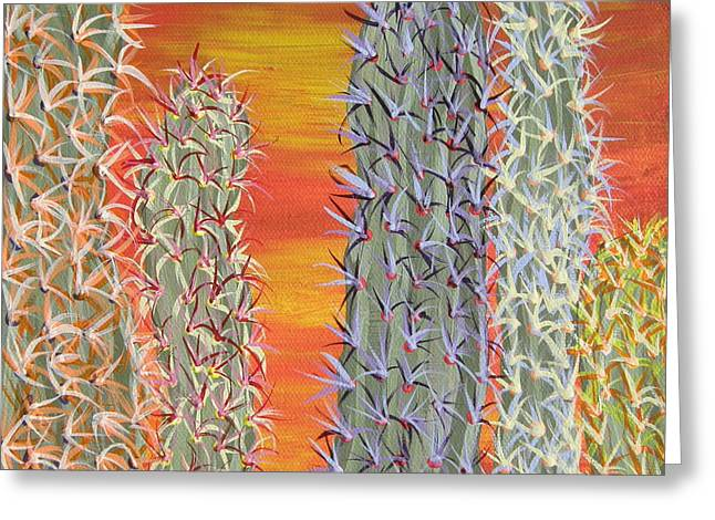 Marcia Weller-wenbert Greeting Cards - Cactus of Color 12 Greeting Card by Marcia Weller