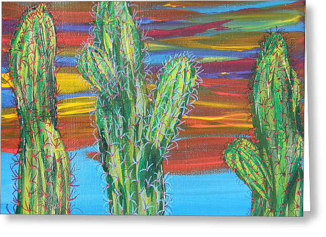 Marcia Weller-wenbert Greeting Cards - Cactus of Color 16 Greeting Card by Marcia Weller