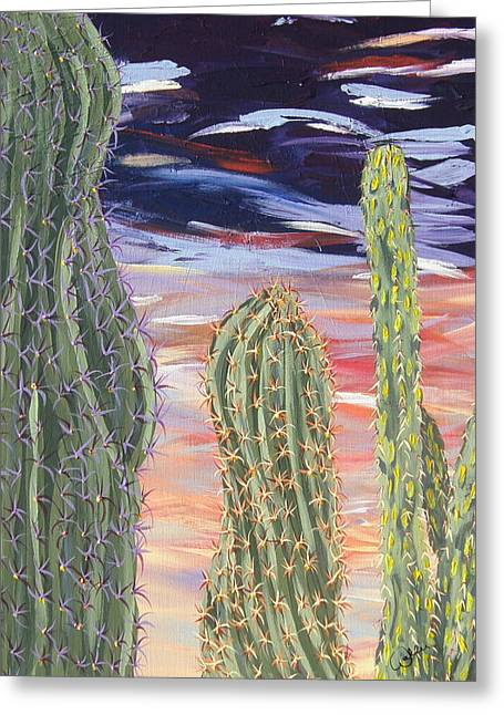 Marcia Weller-wenbert Greeting Cards - Cactus of Color 5 Greeting Card by Marcia Weller