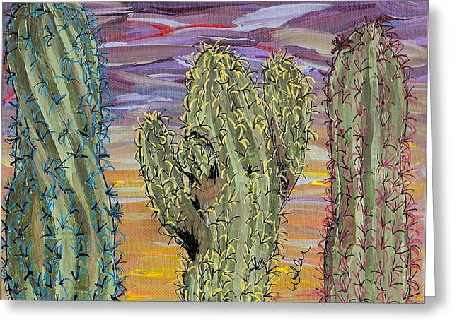 Marcia Weller-wenbert Greeting Cards - Cactus of Color 8 Greeting Card by Marcia Weller