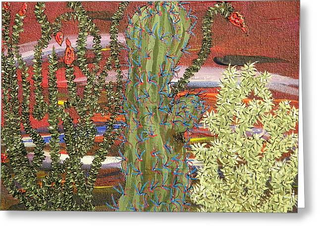 Marcia Weller-wenbert Greeting Cards - Cactus of Color 9 Greeting Card by Marcia Weller