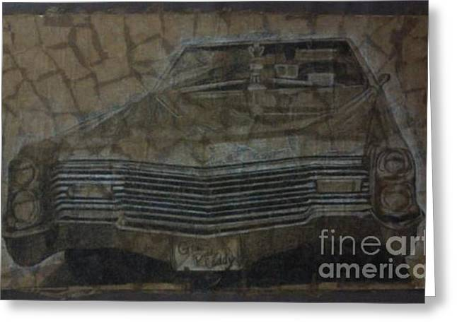 Caddy Mixed Media Greeting Cards - Caddy Greeting Card by Aimee Strausbough