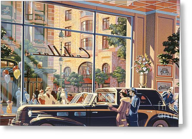 1930s Greeting Cards - Caddy Corner Greeting Card by Michael Young