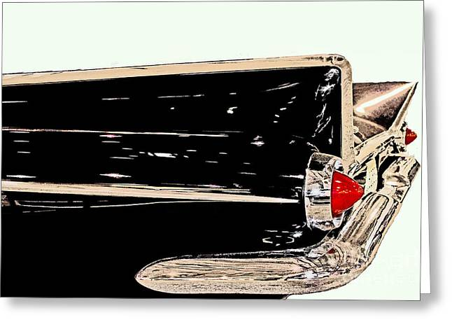 1950-1959 Greeting Cards - 1959 Buick Electra 225 Fins Greeting Card by Tom Gari Gallery-Three-Photography