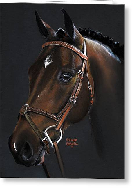 Horse Art Pastels Greeting Cards - Cadence Greeting Card by Heather Gessell